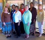 Pam Tuggle, Libbie Dragoo, Pat Hale (Front Row), Fran Halupka, Mary Benjamin, Sharon Bonner Yates, Martha Sykes(Back Row)
