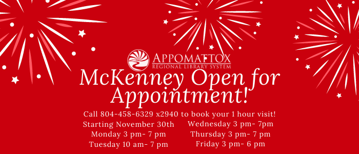 McKenney open to customers by appointment