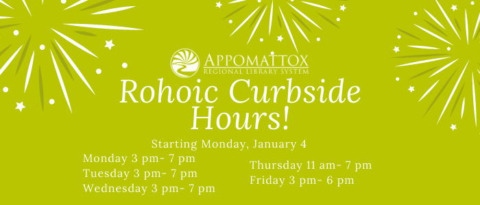 Rohoic Open for Curbside pickup